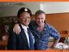 Коллекционер военной атрибутики Тадзика-Сэнсэй с моим морпеховским беретом
