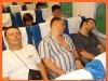 После длительного перелета....В поезде можно и поспать...